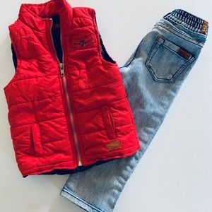 Vest and Jean outfit